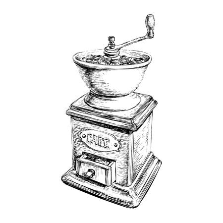 molinillo: Ilustración del vector del Manual de la amoladora de café Vectores
