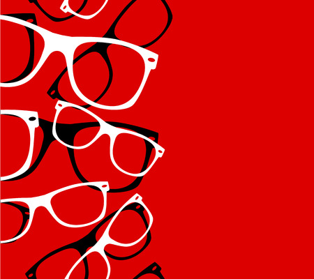 wayfarer: pattern retro hipster sunglasses. vector abstract