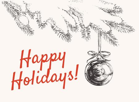 holidays: Happy Holidays Vector illustration.