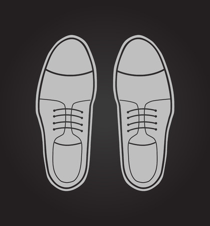 varnished: Classic mens shoes. Vector illustration