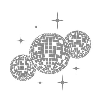 Disco ball Vector icon 免版税图像 - 74762755