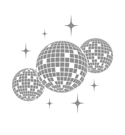 Disco icono de la bola del vector
