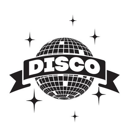 Disco icona palla Vector