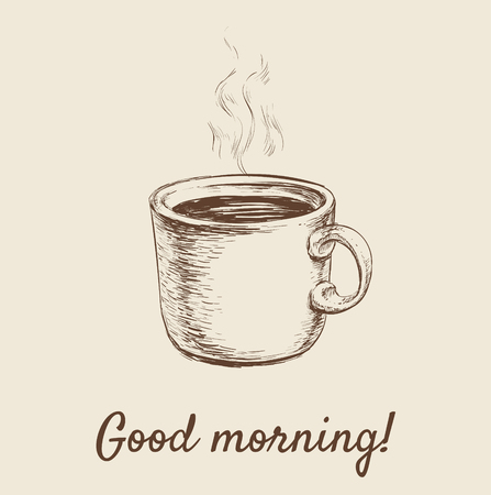 Hand Drawn Sketch Coffee Cup Illustration