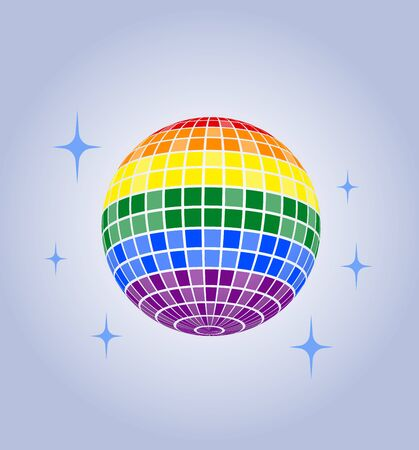 Disco ball  icon Rainbow Pride