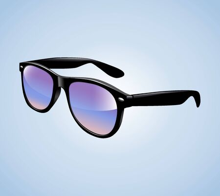 Realistic Vintage Sunglasses Isolated Vector Illustration