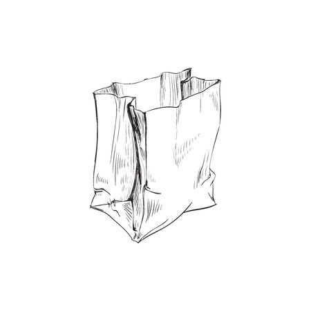Bag Paper Crumpled Vector Illustration Bag Paper Crumpled Vector Illustration