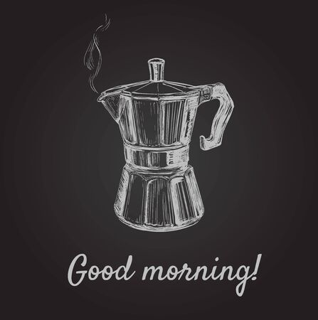 Hand Drawn Sketch Coffee Maker Vector Illustration 矢量图像
