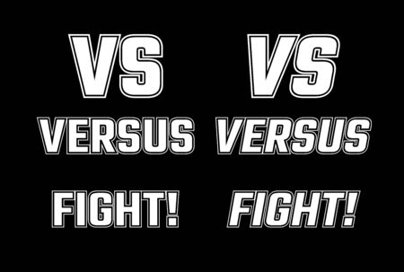 VS Vector Letters Illustration Competition Icon Template Versus Fight 矢量图像