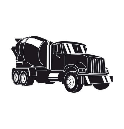 Concrete Mixer Truck. Vector Illustration 矢量图像