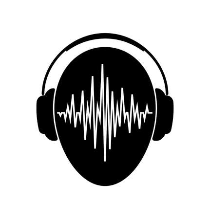 Headphones Icon With Sound Wave Beats Headphones Icon With Sound Wave Beats