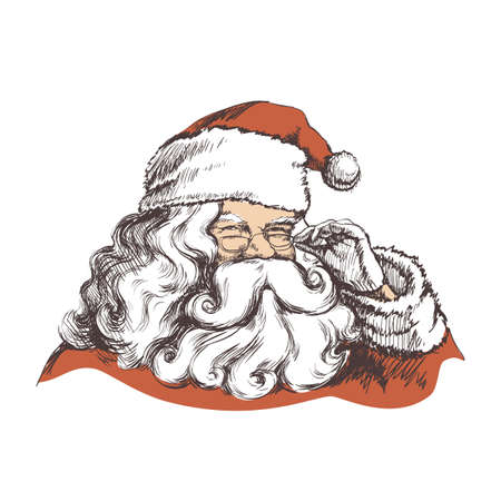 Smiling Santa Claus Portrait Vector illustration 矢量图像