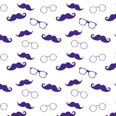 Geek face. Hipster style set bowtie, glasses and mustaches. vector abstract illustration background. Mens look