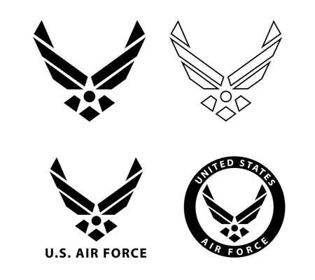 Usa U.S. Air Force Logo Sign Symbol 矢量图像