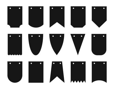 Banner bunting template set. Vector Template Design.