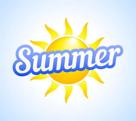 Summer Sun Vacation Vector Illustration Template