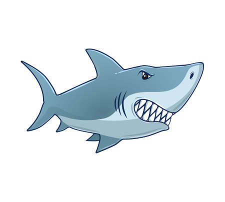 Cartoon Shark Vector isolated illustration