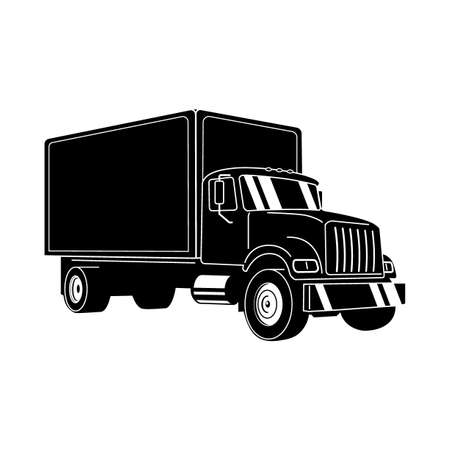 Moving Truck. Delivery truck. Commercial vehicle. Shipping. Modern flat vector illustration