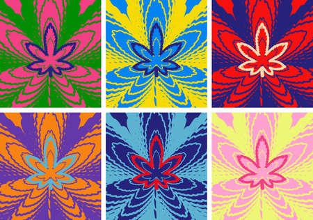 Marijuana Green leaf Art. Pop Art Style. Abstract. Ganja. Drug. Hemp marijuana hemp leaves