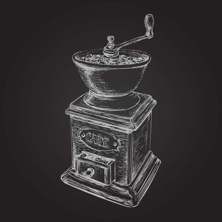 Hand Drawn Sketch Coffee Maker Vector Illustration Иллюстрация