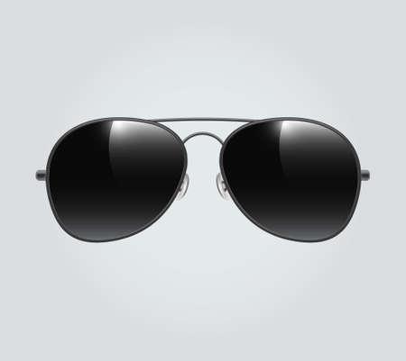 Black Aviator sunglasses illustration background Aviator sunglasses illustration background. Police isolated sunglasses