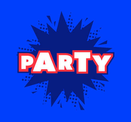 Party Sign Template Vector icon