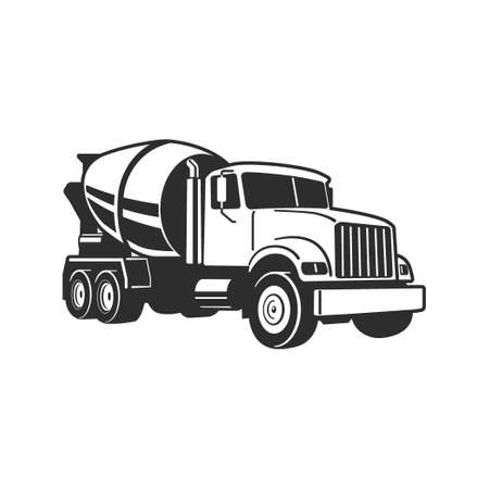 Concrete Mixer Truck. Vector Illustration. Concrete Mixer Truck. Vector Illustration. Concrete Mixer Truck. Vector Illustration