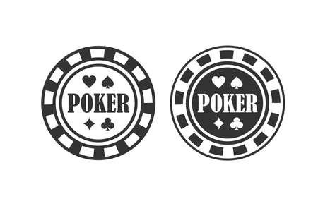 Poker Chip Queen, Texas Holdem, Clubs Playing Card, Gambling, Casino Betting. Design Logo Template. Poker Chip. Poker Chip. Poker Chip