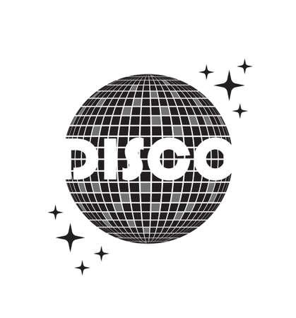 Disco ball Vector icon. Party Template dj