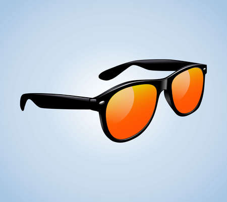 Classic Vintage Sunglasses Realistic Isolated Vector Illustration