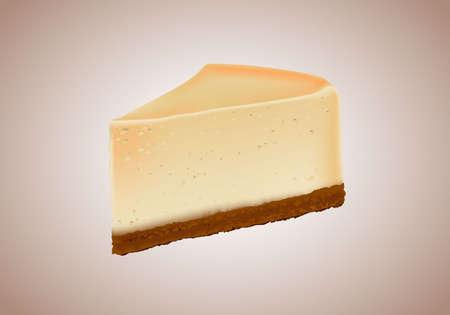 Cheesecake Vector Realistic Illustration. Cheesecake Vector Realistic Illustration.