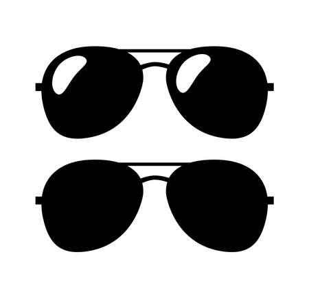 Aviator Sunglasses Flat Icon.