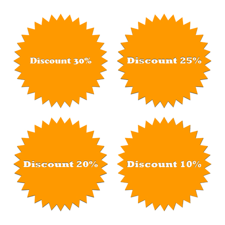 The most popular badge icon. The symbol of the bestseller. Element of graphic design. The apartment is the most popular symbol on a white background. For advertising discount 10%, 20%, 25%, 30% Illustration