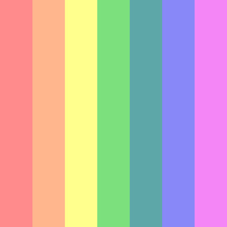 Dull rainbow colors in retro style. Vector Background