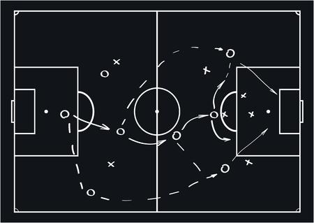 Soccer or football game strategy plan. Vector illustration. Sport infographics element. Ilustração