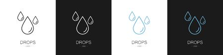 Set of logos drops. Collection. Modern style vector illustration.