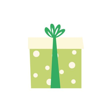 Gift box. Flat style. Vector illustration