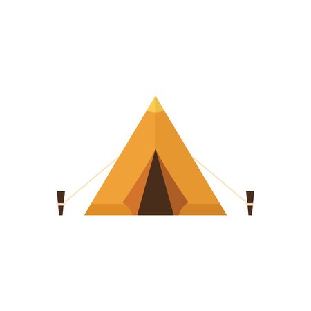 Tent. The concept of tourist camps. Flat style. Vector illustration Illustration