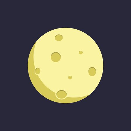 Moon. Flat style. Vector illustration