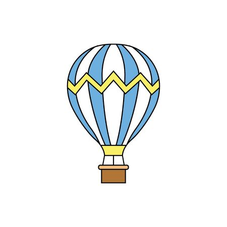 Air Balloons. Flat style. Vector illustration
