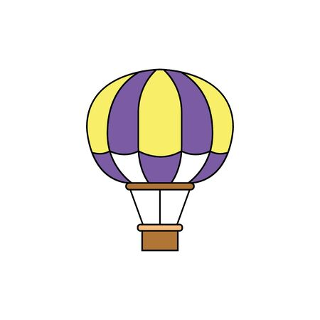 Air Balloons. Flat style. Vector illustration