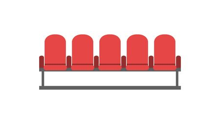 Armchairs for sitting in the cinema and theater. Flat style. Vector illustration