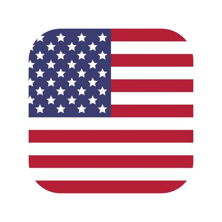 Flag of the United States of America. Vector illustration