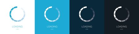 Loading. Set of update and reboot. Vector illustration