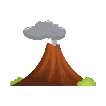 Volcano. Eruption. Natural disasters. Vector illustration