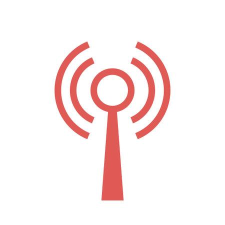 Antenna Icon Isolated On White Background. Vector illustration