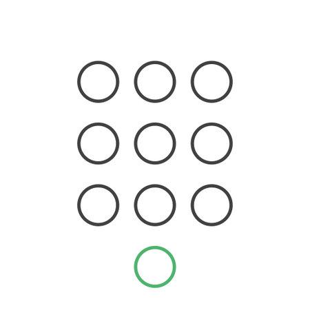 Smartphone keyboard icon. Numeric keypad for phone calls. Vector illustration