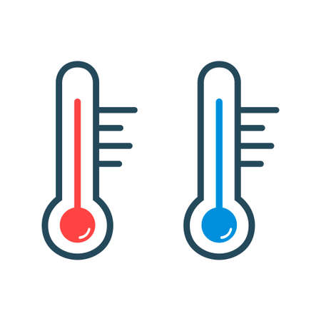Thermometer icons isolated on white background. Temperature measurement. Vector illustration