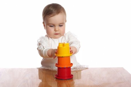 Little pretty child play toy on a table Stock Photo - 19063601