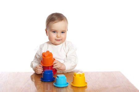 Little pretty child play toy on a table Stock Photo - 19063598